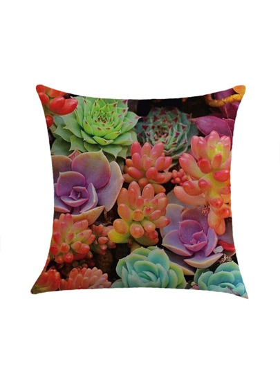 Mixed Succulents Print Pillowcase Cover