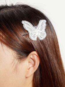 Perni di capelli con ricamo di farfalla