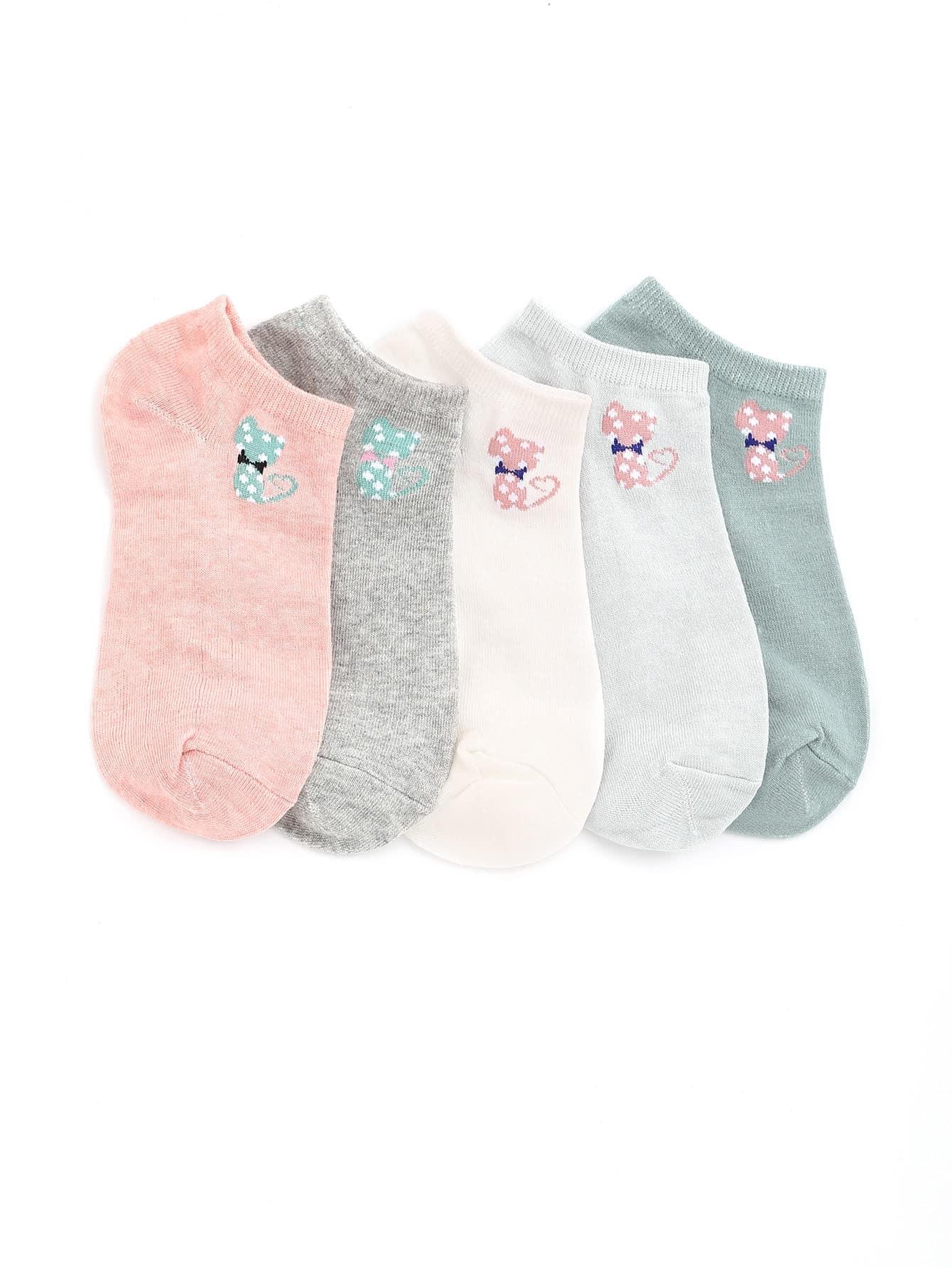 Фото Cat Pattern Invisible Socks. Купить с доставкой