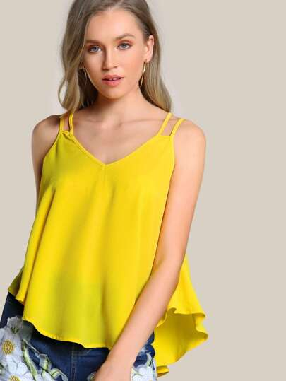 Double Strap Flowy Cami Top