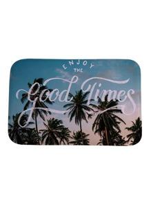 Palm Tree Print Carpet