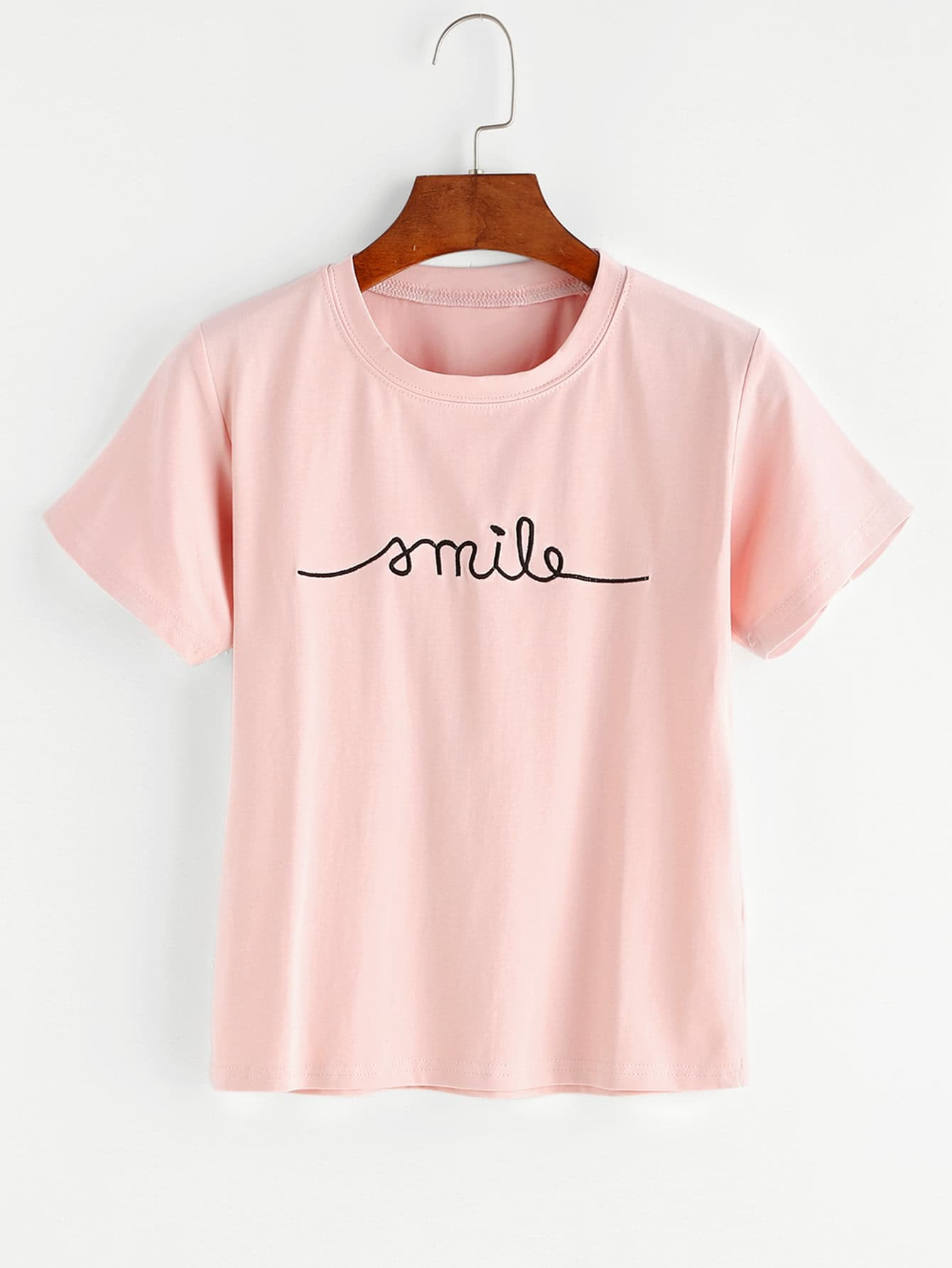 Letter Embroidered Tee letter fish embroidered tee