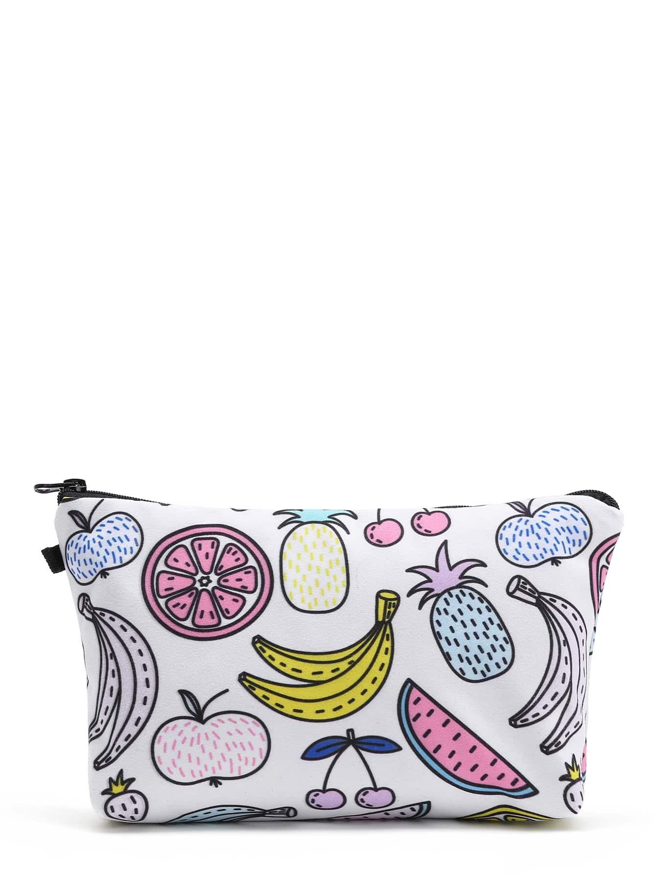 Фото Fruit Print Makeup Bag. Купить с доставкой