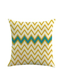 Chevron Striped Print Pillowcase Cover