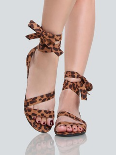 Wrap Up Leopard Sandals LEOPARD