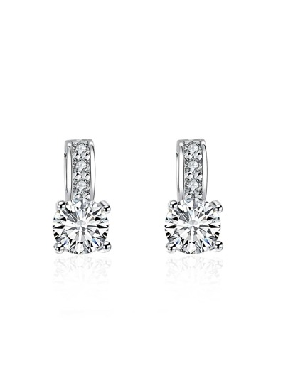 Faux Diamond Embellished Earrings