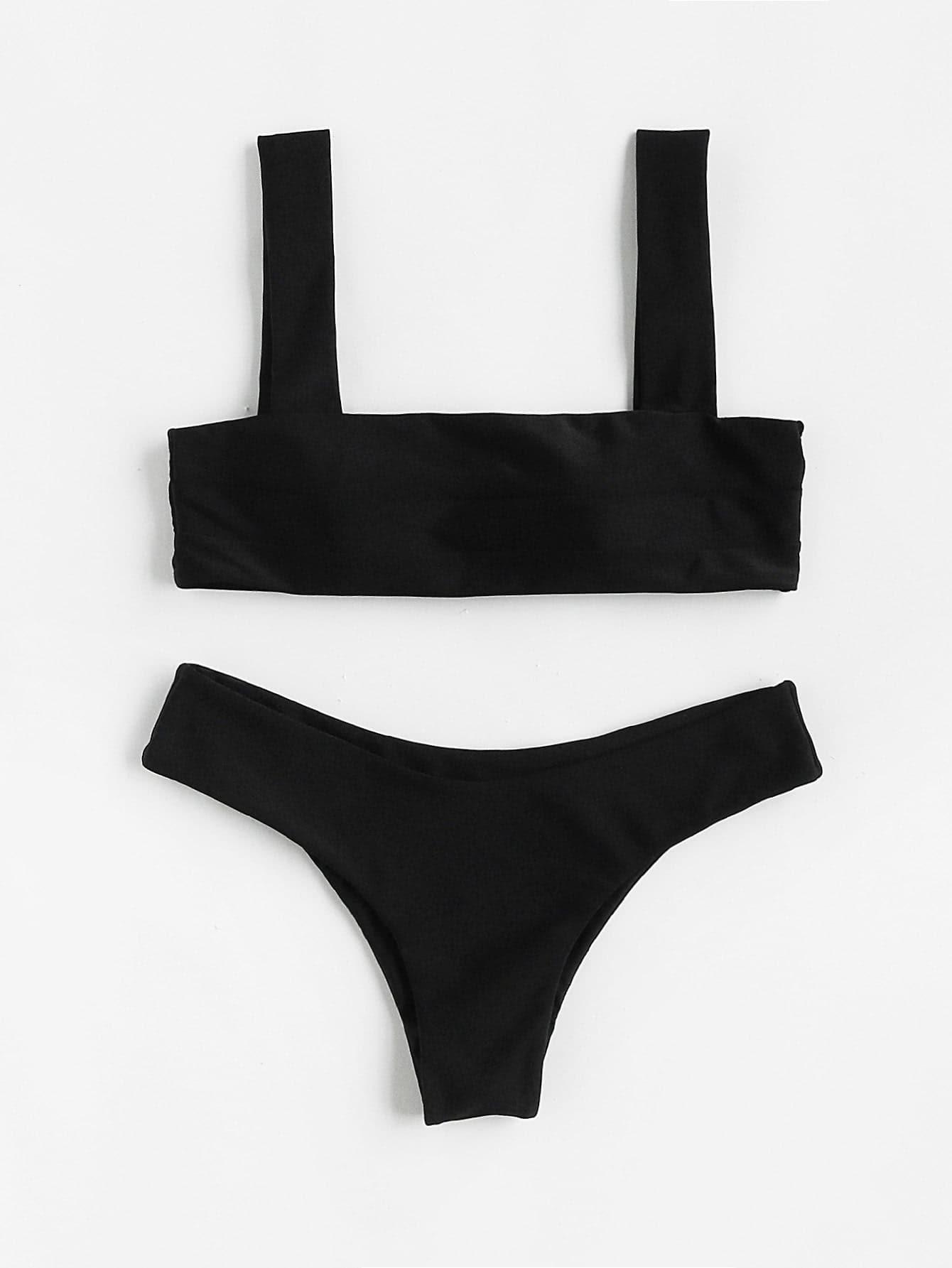 Double Strap Bikini Set