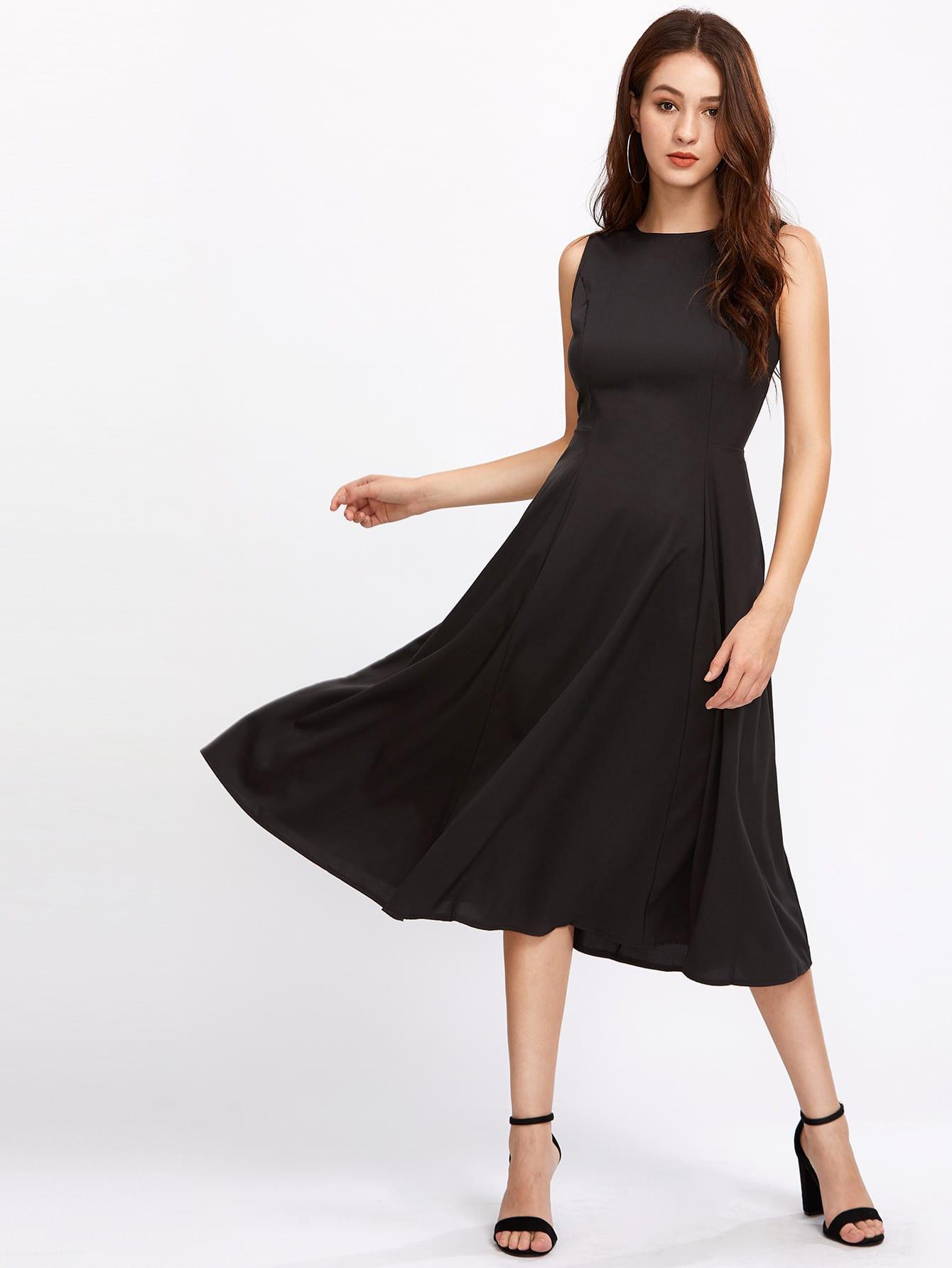 Фото Zipper Back Swing Dress. Купить с доставкой
