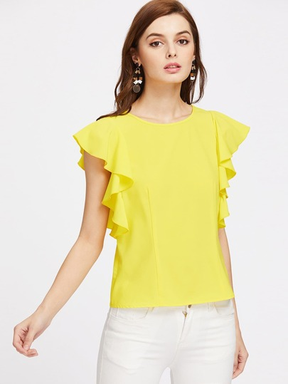 Flutter Cap Sleeve Top