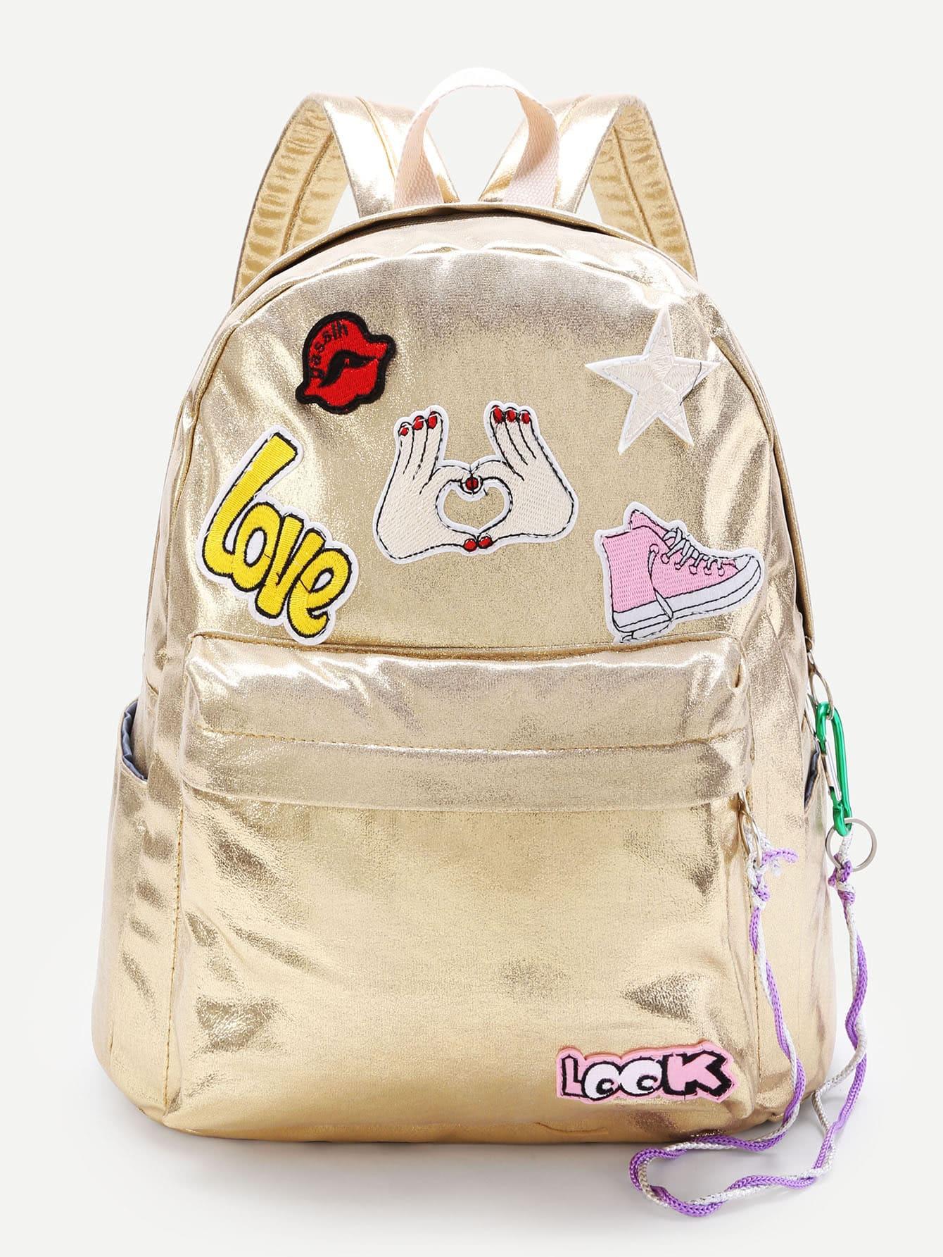 Фото Cartoon Patch Decorated PU Backpack. Купить с доставкой