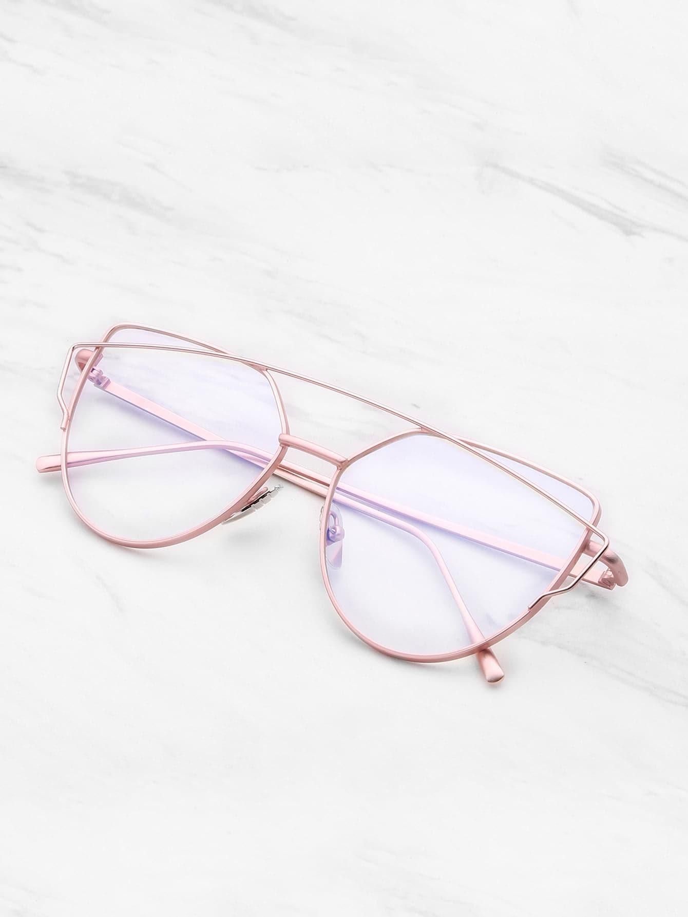 Top Bar Flat Lens Glasses sunglass170613303