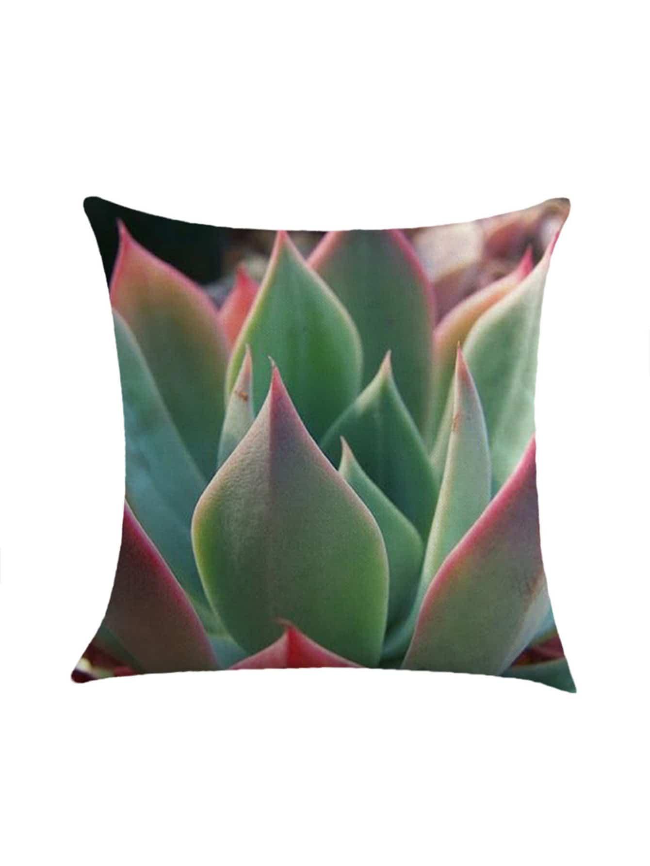 Фото Succulent Leaf Print Pillowcase Cover. Купить с доставкой