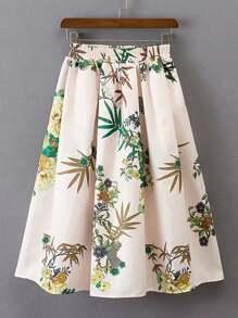 Jupe taille élastique avec des plis