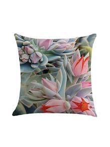 Succulent Plant Pillowcase Cover