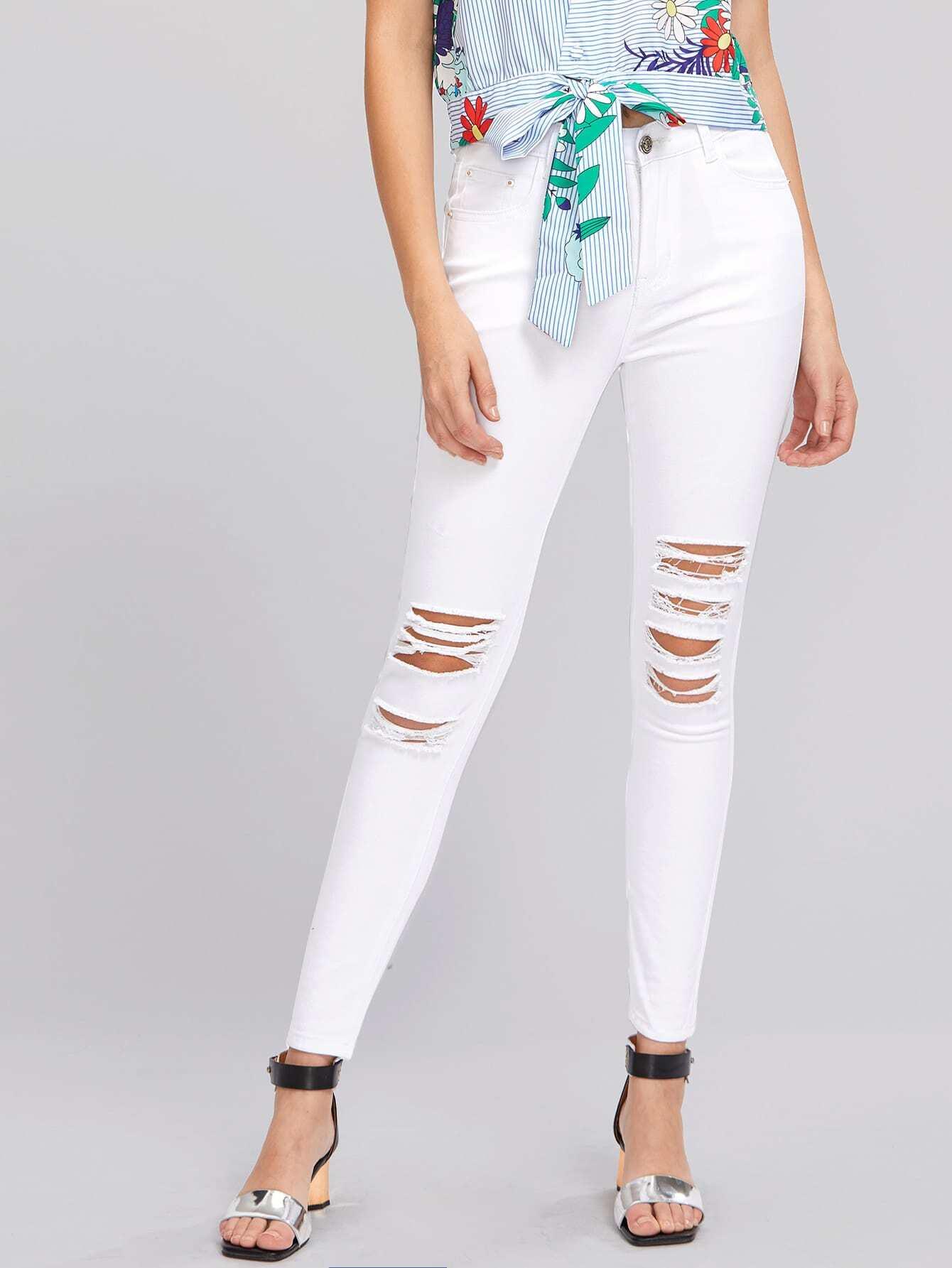 Фото Knee Shredded Jeans. Купить с доставкой