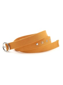 Ring Buckle Eyelet Belt