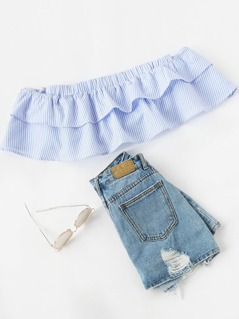 Bandeau Layered Crop Top