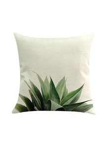 Plant Leaf Print Pillowcase Cover