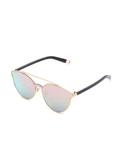 Ombre Lens Top Bar Sunglasses