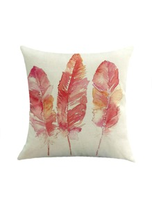 Triple Feather Print Pillowcase Cover