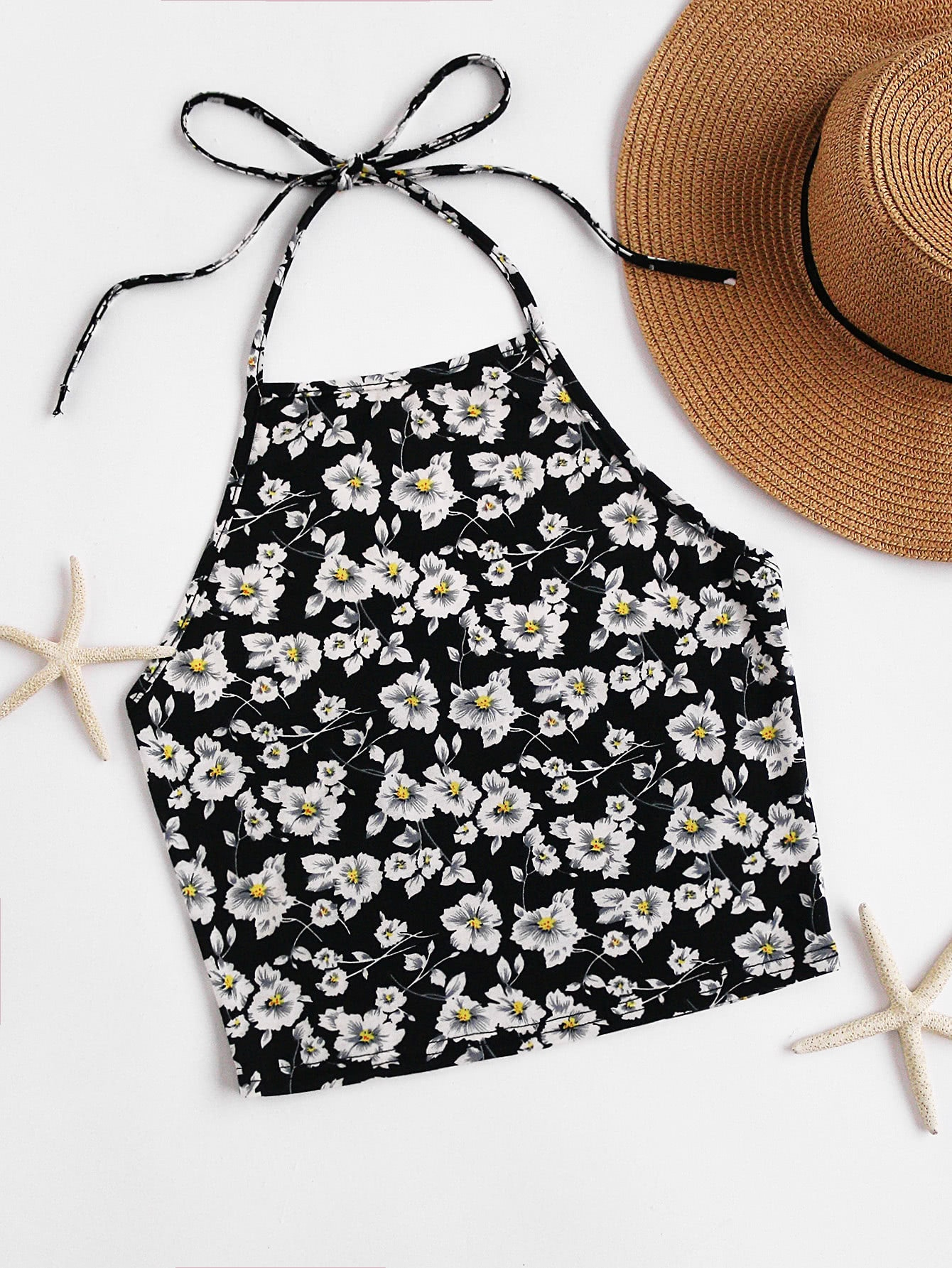 Blossom Self Tie Halter Top vest170620703