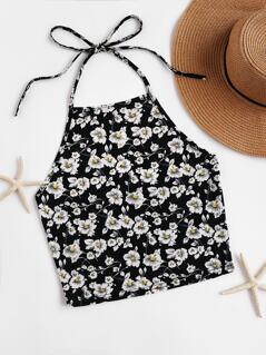 Blossom Self Tie Halter Top