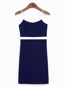 Cami Straps Contrast Binding Bodycon Dress