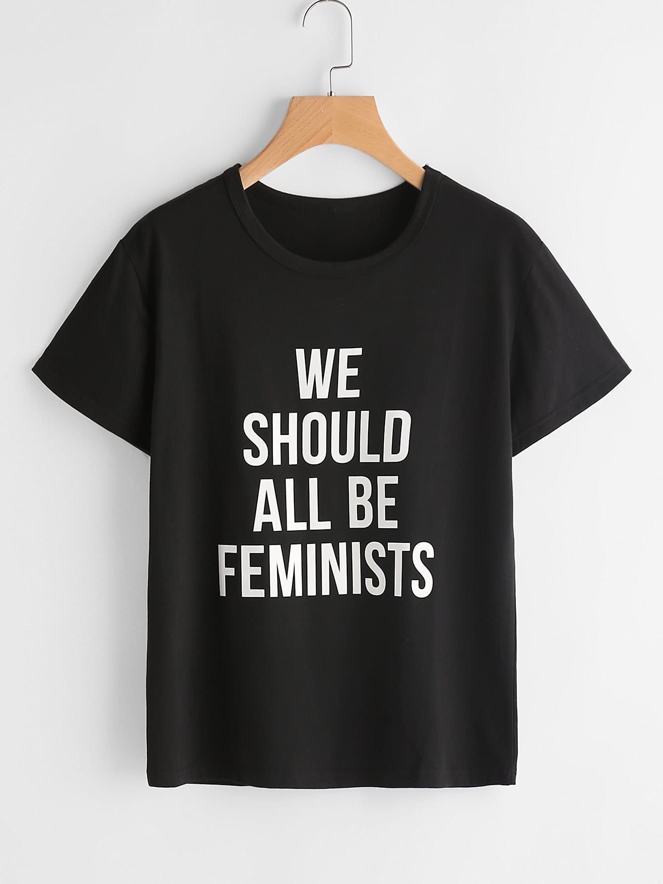Фото Slogan Print T-shirt. Купить с доставкой