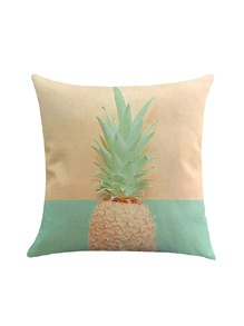 Pineapple Print Color Block Pillowcase Cover