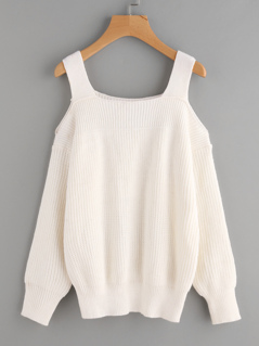 Open Shoulder Thick Strap Jumper