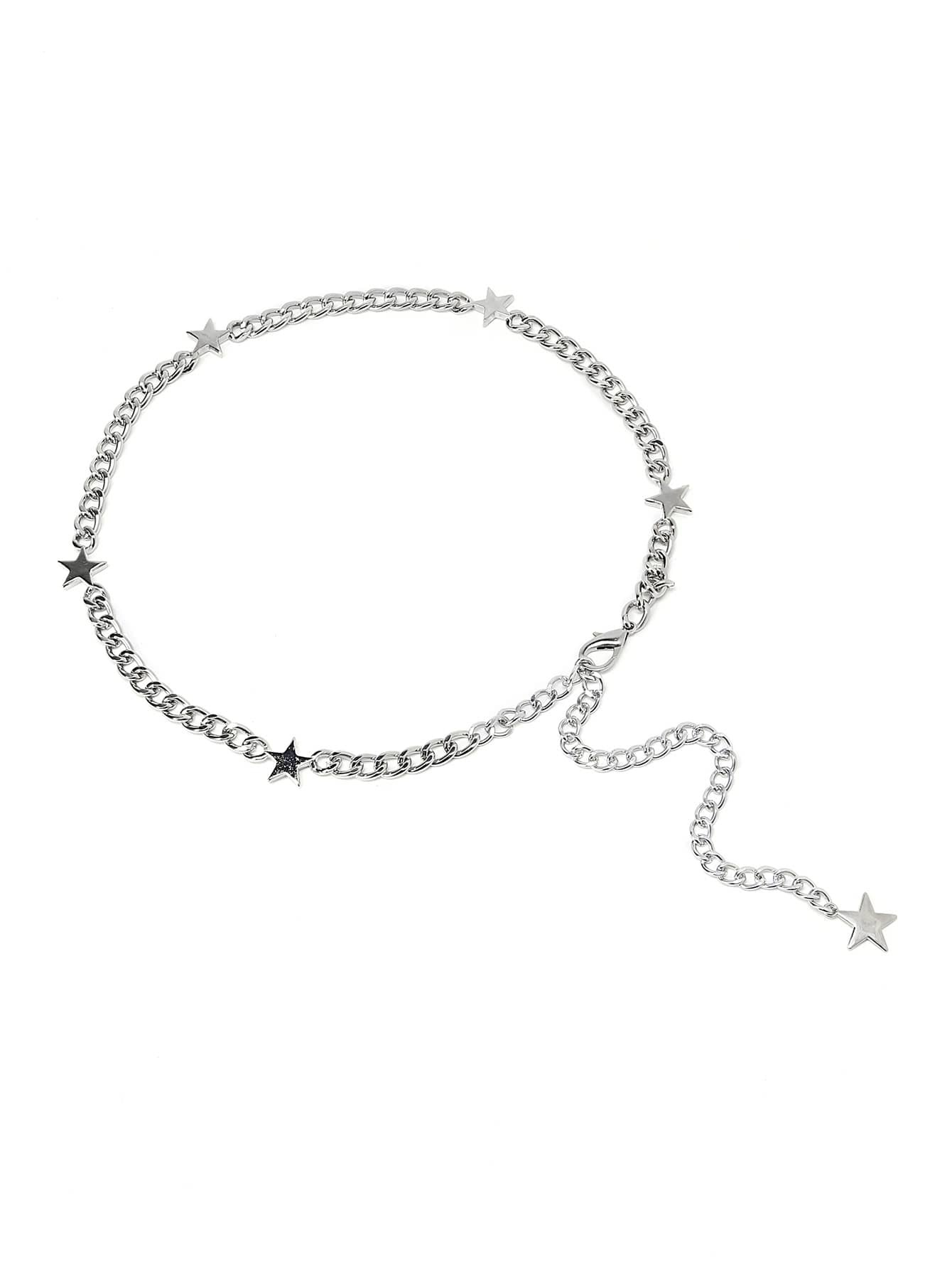 Фото Metal Star Detail Waist Chain. Купить с доставкой