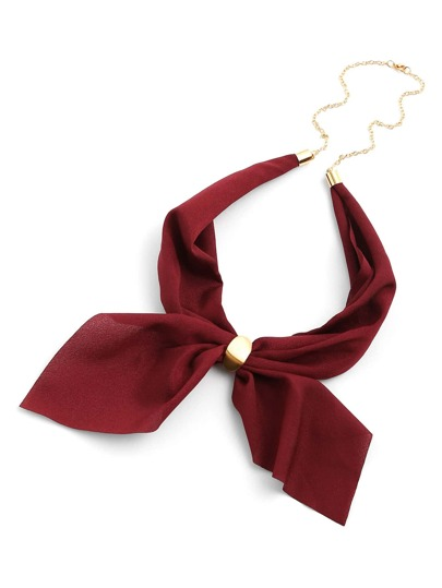 Chiffon Neckerchief With Chain