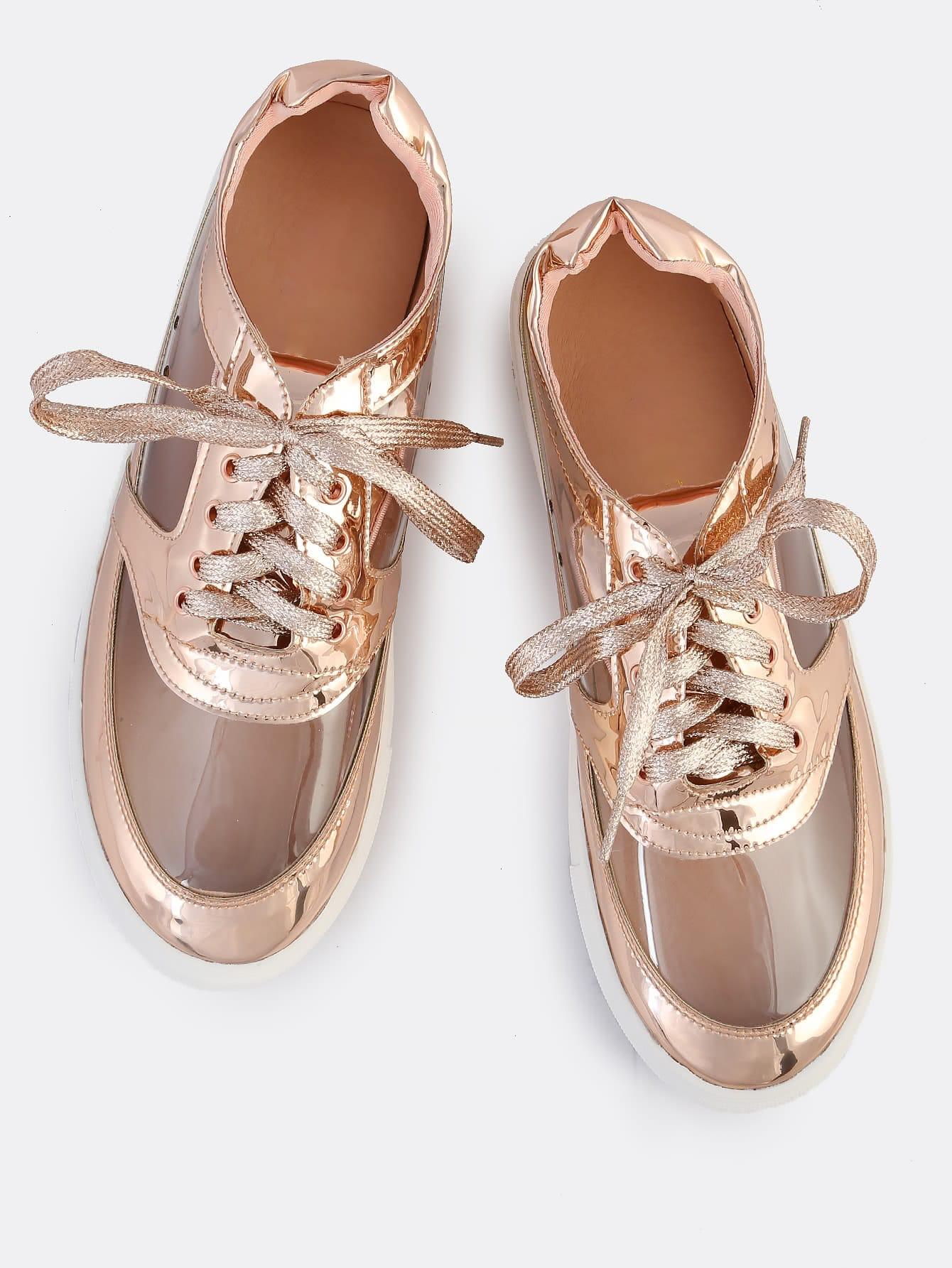 clear metallic sneakers rose gold makemechic com. Black Bedroom Furniture Sets. Home Design Ideas