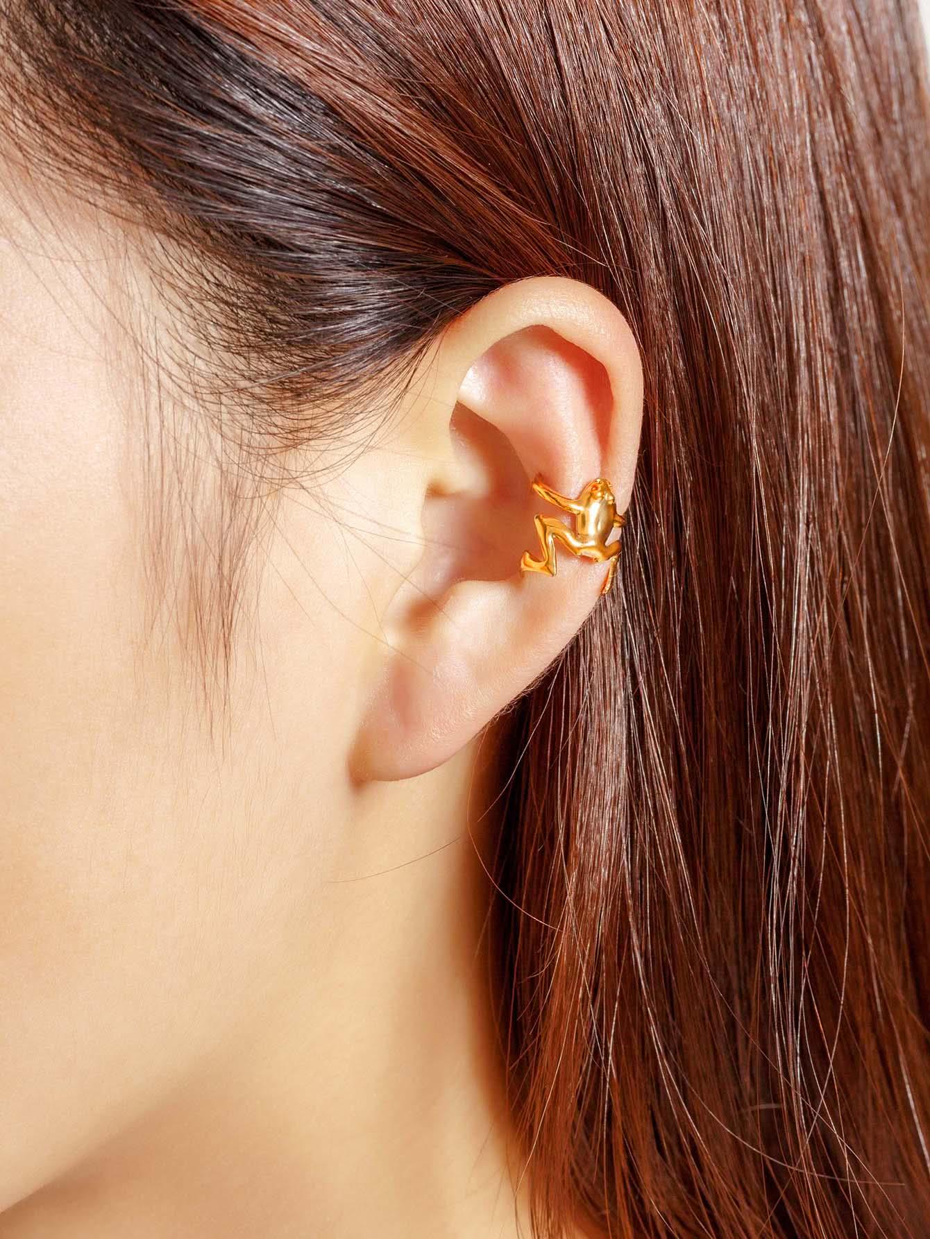 Фото Frog Shaped Cute Ear Cuff 1pcs. Купить с доставкой