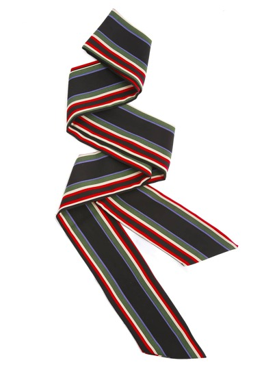 Block Striped Skinny Scarf