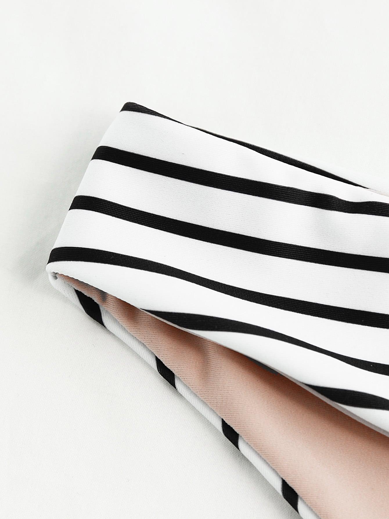 Striped Beach Bikini Set