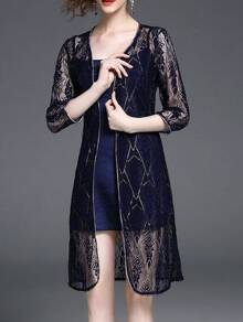 Spaghetti Strap Two-pieces Lace Vest Dress