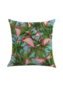 Flamingo & Palm Tree Print Pillowcase Cover