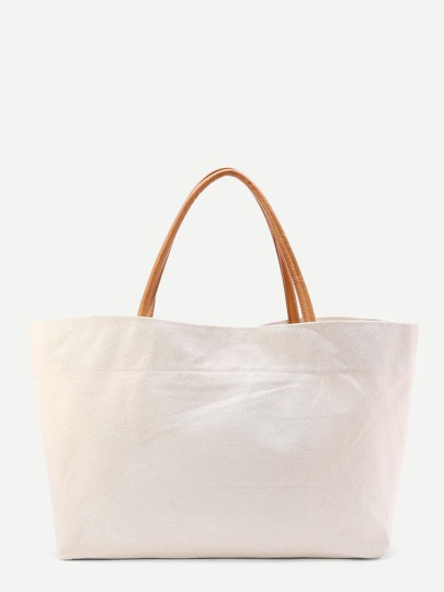 Linen Shopping Bag With Handle