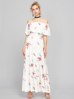 Bardot Floral Print Maxi Dress