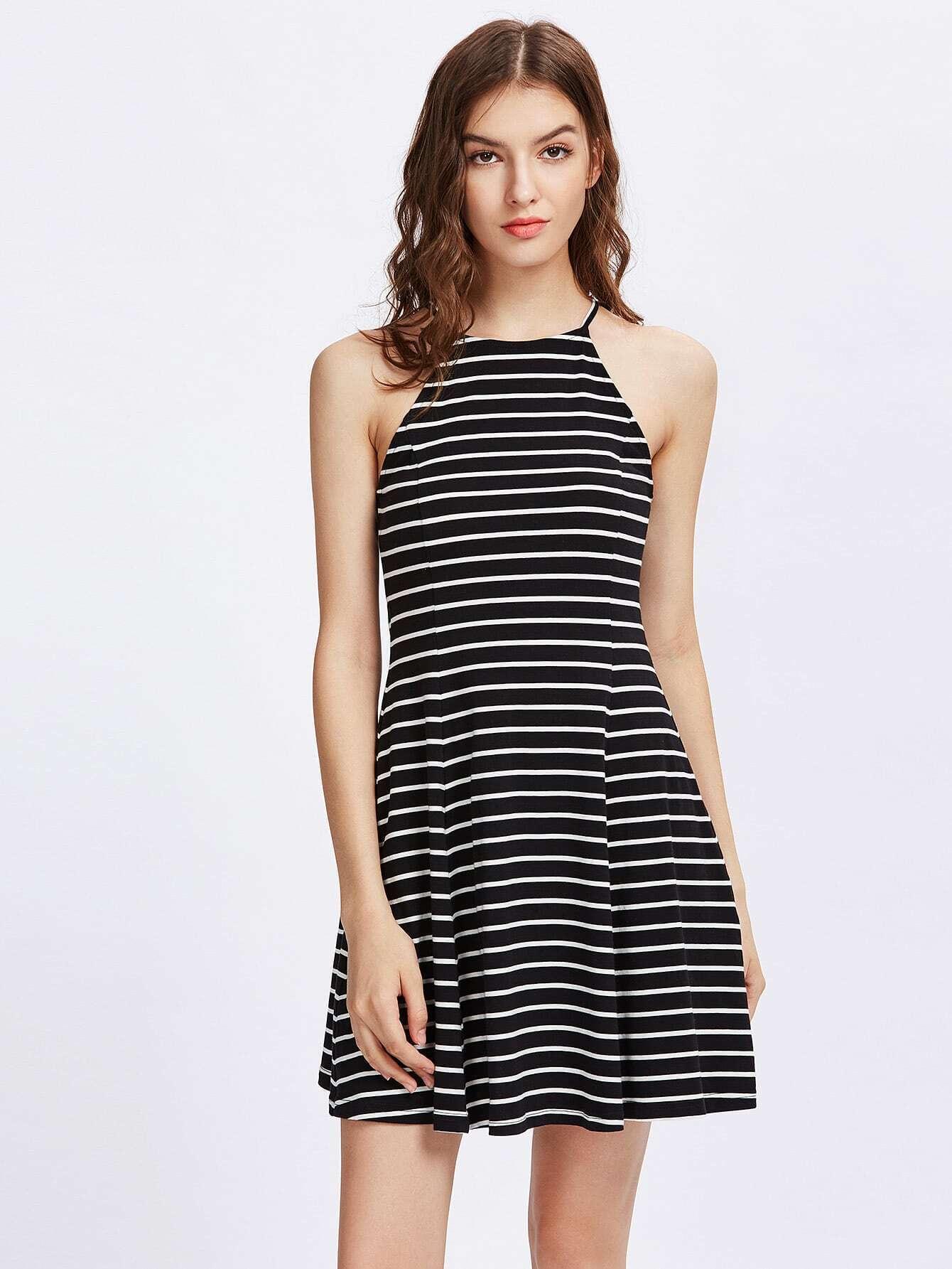 Фото Striped Swing Racer Cami Dress. Купить с доставкой