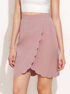 Scallop Edge Overlap Skirt