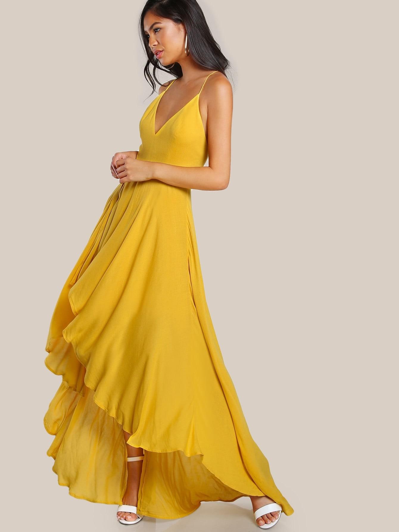 Фото Backless High Low Cami Dress. Купить с доставкой