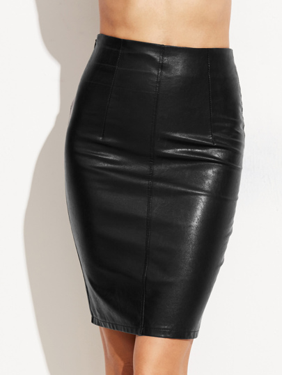 Faux Leather Skinny Skirt