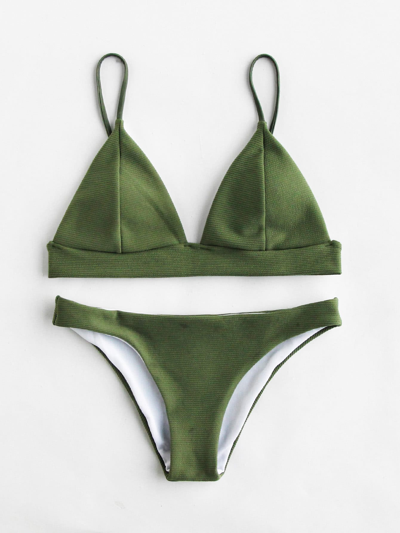 Фото Seam Detail Triangle Bikini Set. Купить с доставкой