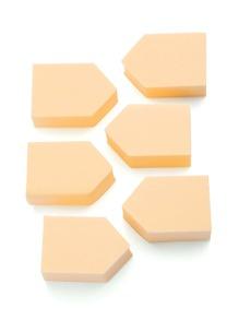 6 piezas de esponja de maquillaje en forma de flecha