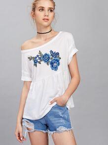 Camiseta con bordado