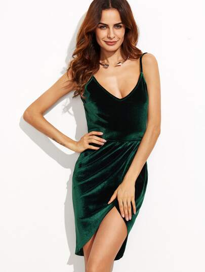 Backless Ruched Velvet Tulip Dress