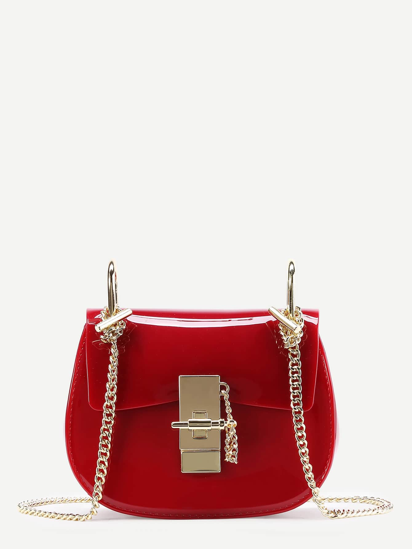 Фото Plain PVC Chain Saddle Bag. Купить с доставкой