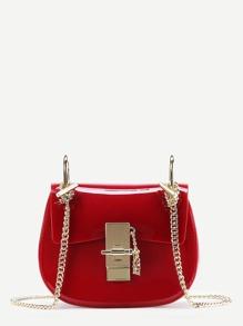 Plain PVC Chain Saddle Bag